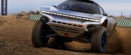 El GMC HUMMER EV en la serie Off-Road Extreme E Racing