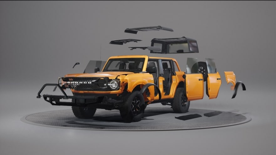 Cómo se diseñó el Ford Bronco para que se pueda personalizar de manera sencilla e ilimitada
